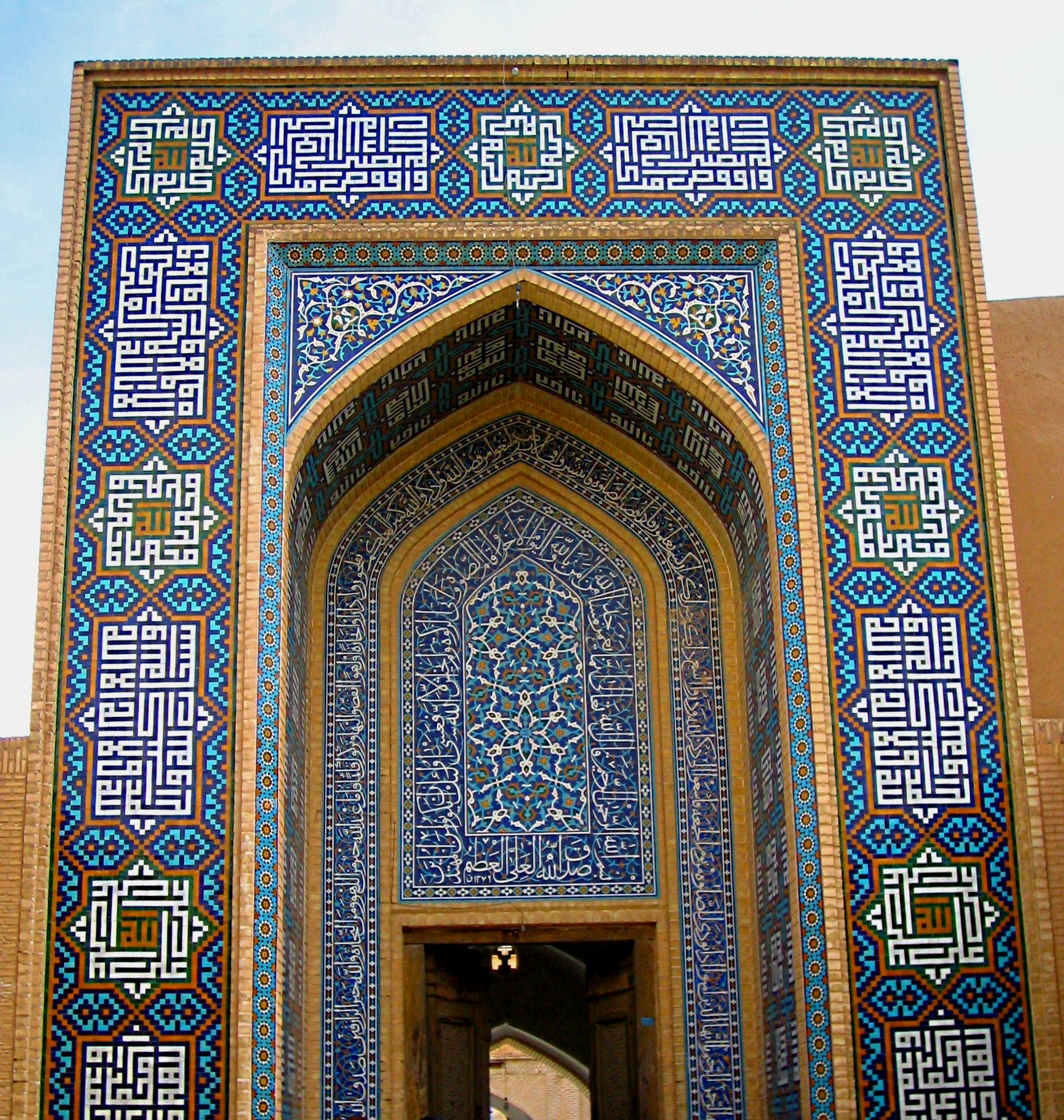 jame mosque yazd tilework1 Most Impressive Mosaics in The World