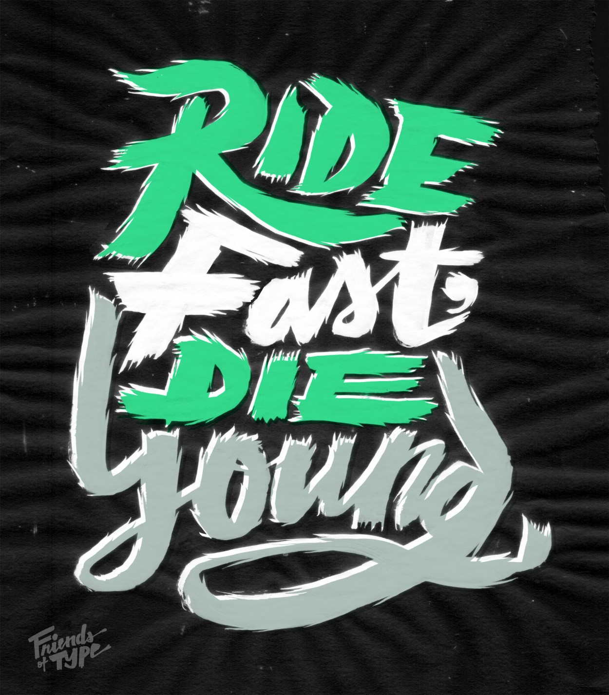 ridefast1 Breakout Lettering Crafted by Erik Marinovich